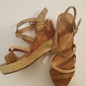 ALDO sandal tan eight and a half